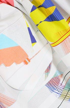 Хлопковая мини-юбка свободного кроя с накладным карманом   Фото №3