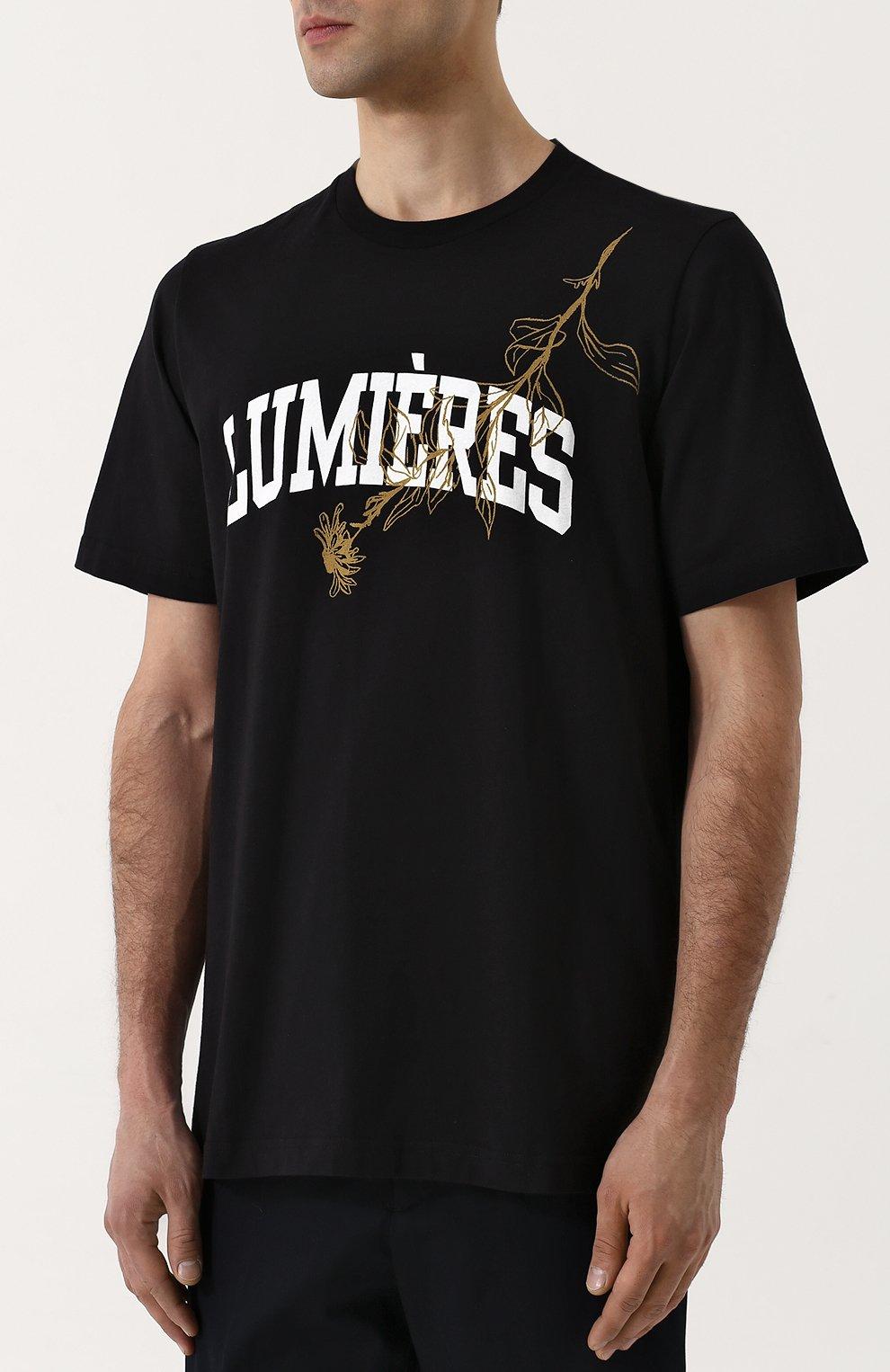 Мужская хлопковая футболка с принтом OAMC черного цвета, арт. I025598 | Фото 3