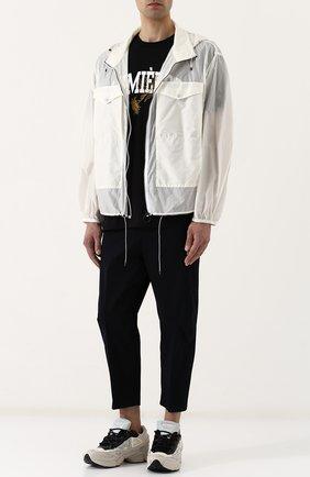 Куртка свободного кроя на молнии с капюшоном Oamc белая | Фото №1