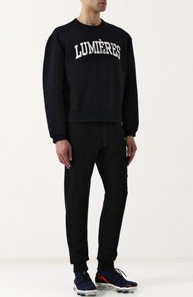 Хлопковый свитшот с принтом Oamc черный | Фото №1