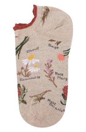 Льняные носки с цветочным рисунком | Фото №1