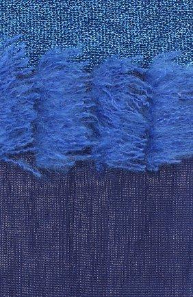 Женские высокие вязаные носки с контрастной бахромой ANTIPAST синего цвета, арт. AS-177 | Фото 2