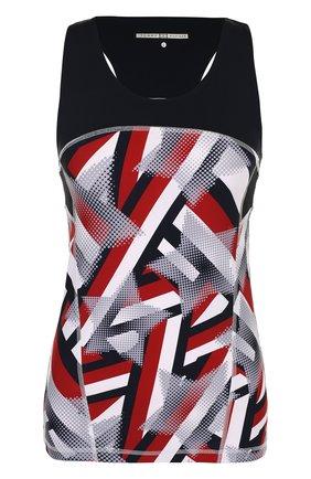 Приталенный топ с круглым вырезом и принтом Tommy Hilfiger разноцветный | Фото №1