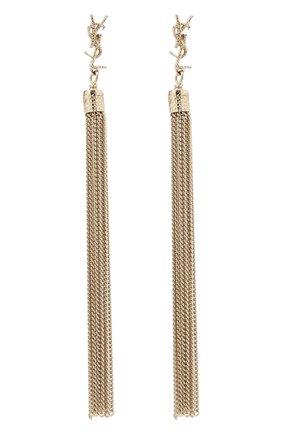 Женские серьги с подвесками-цепочками SAINT LAURENT золотого цвета, арт. 506030/Y1614   Фото 1