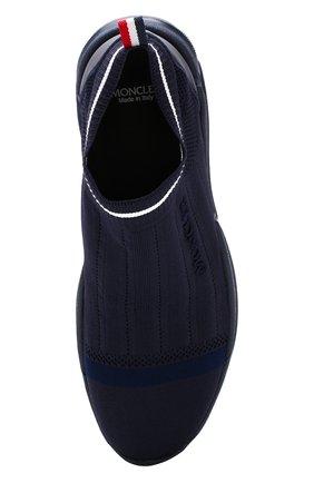 Мужские текстильные кроссовки без шнуровки  MONCLER темно-синего цвета, арт. D1-09A-10286-00-019MP | Фото 5
