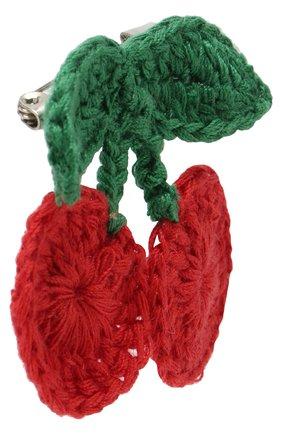 Вязаная брошь Sonia Rykiel Enfant красного цвета | Фото №1