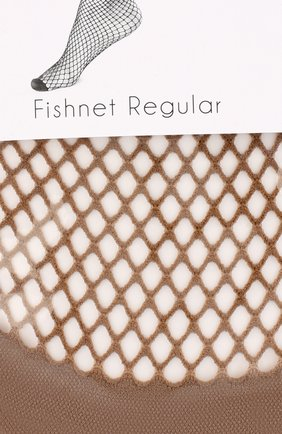 Женские капроновые носки в сетку OROBLU бежевого цвета, арт. V0BC01508 | Фото 2