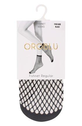 Женские капроновые носки в сетку OROBLU черного цвета, арт. V0BC01508 | Фото 1