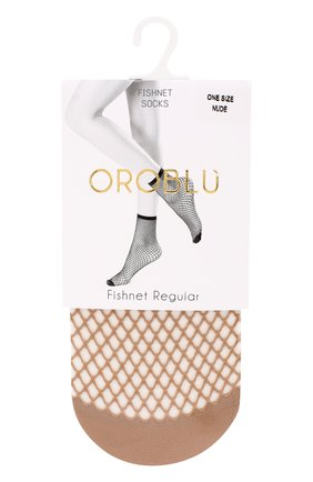 Женские капроновые носки в сетку OROBLU бежевого цвета, арт. V0BC01508 | Фото 1