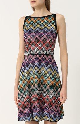 Вязаное мини-платье без рукавов | Фото №3
