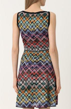 Вязаное мини-платье без рукавов | Фото №4