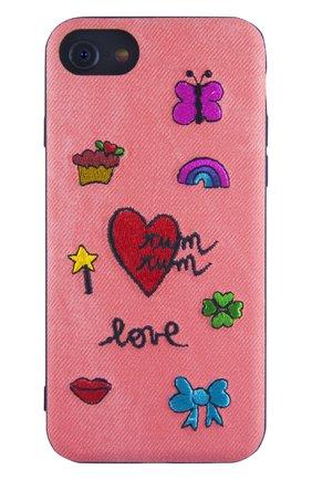 Мужской чехол для iphone x с вышивкой BENJAMINS розового цвета, арт. ST8-EMBTUMTUM | Фото 1