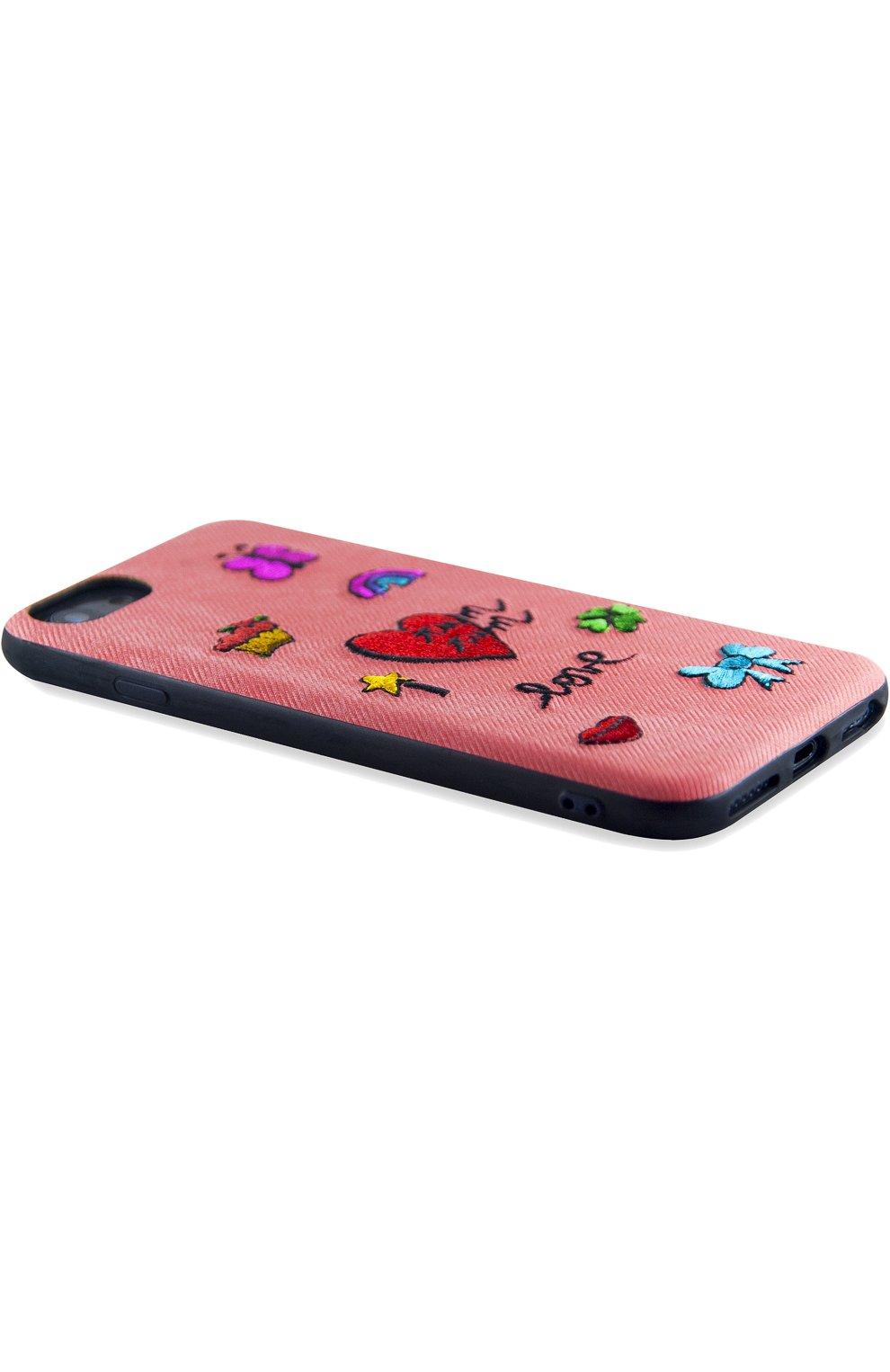 Мужской чехол для iphone x с вышивкой BENJAMINS розового цвета, арт. ST8-EMBTUMTUM | Фото 2