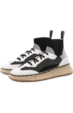 Текстильные кроссовки на джутовой подошве | Фото №1