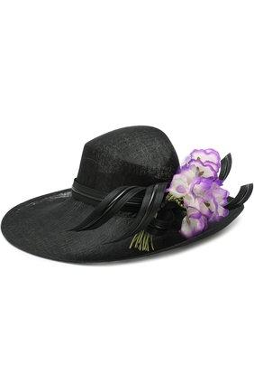Соломенная шляпа с декором в виде цветка | Фото №1
