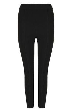 Однотонные брюки-скинни с разрезами на молниях | Фото №1