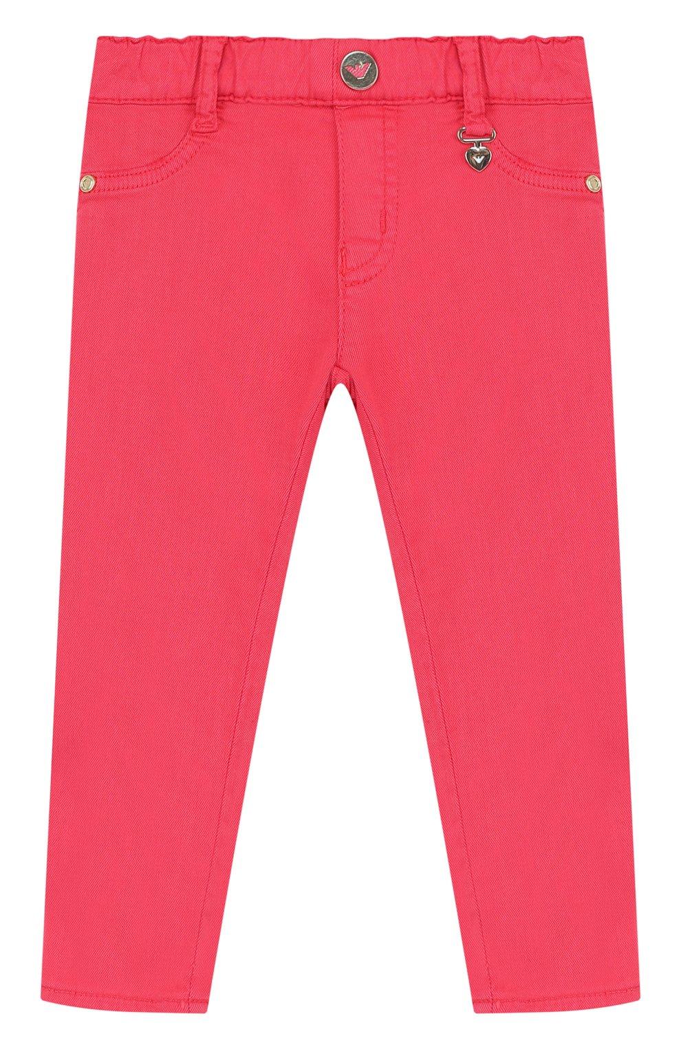 Детские джинсы с эластичным поясом ARMANI JUNIOR фуксия цвета, арт. 3ZEJ33/3N04Z | Фото 1