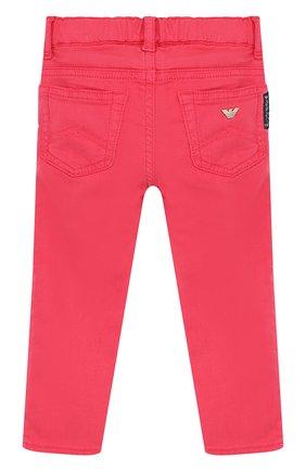 Детские джинсы с эластичным поясом ARMANI JUNIOR фуксия цвета, арт. 3ZEJ33/3N04Z | Фото 2