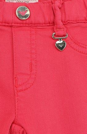 Детские джинсы с эластичным поясом ARMANI JUNIOR фуксия цвета, арт. 3ZEJ33/3N04Z | Фото 3