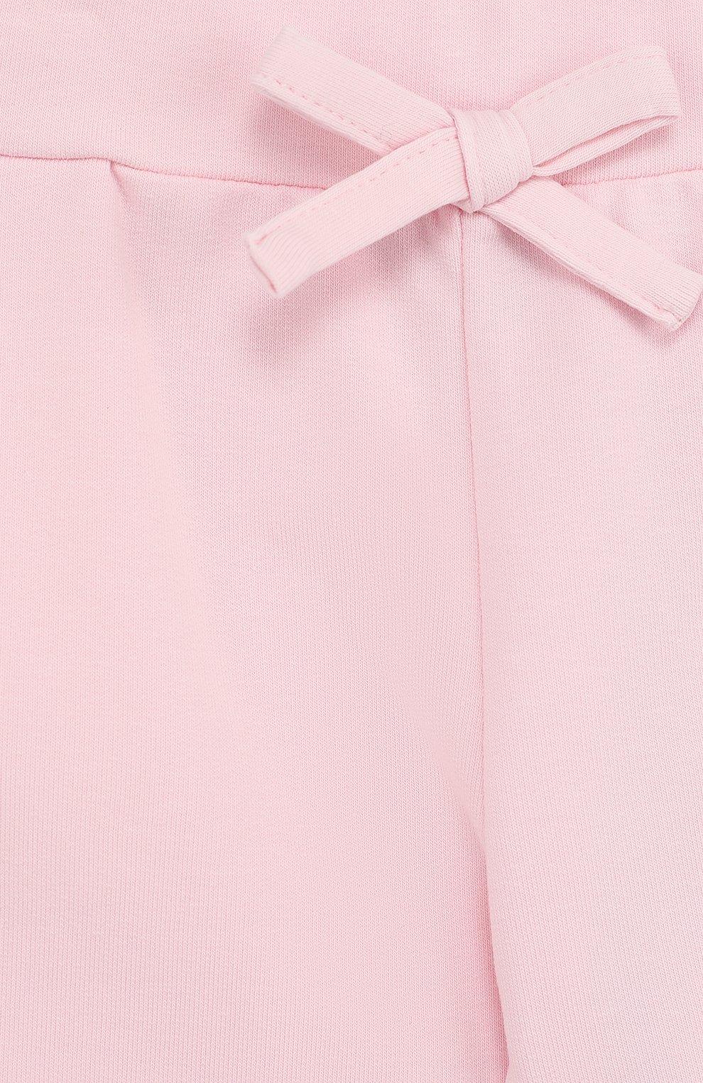 Хлопковые брюки с поясом на кулиске | Фото №3