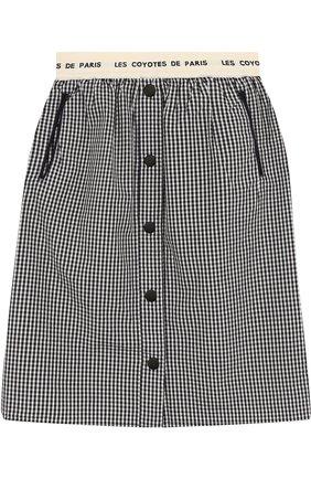 Хлопковая юбка-миди с эластичным поясом | Фото №1