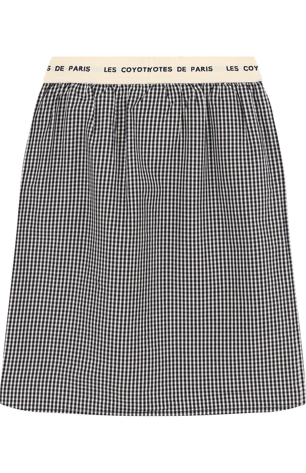 Хлопковая юбка-миди с эластичным поясом | Фото №2