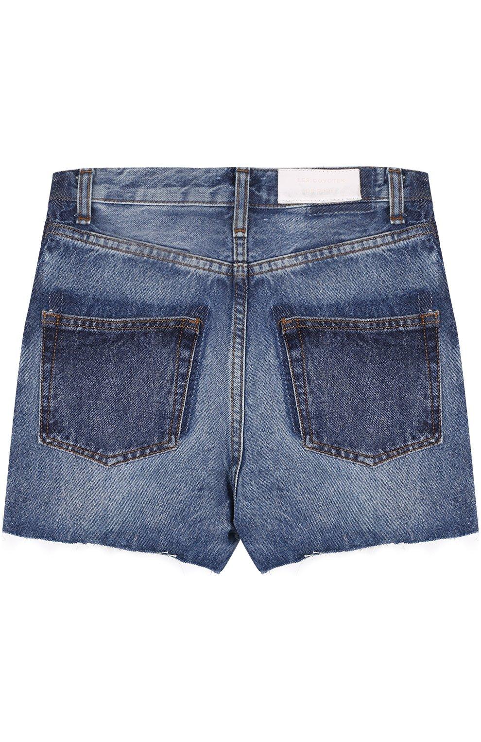 Детские джинсовые шорты с декоративными потертостями LES COYOTES DE PARIS синего цвета, арт. 310348 | Фото 2