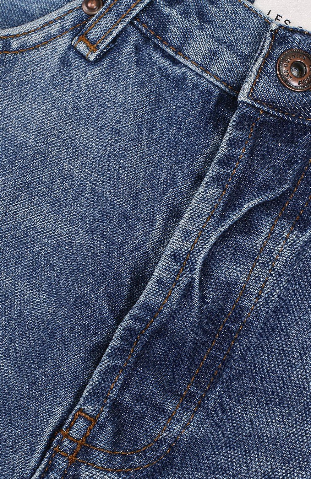 Детские джинсовые шорты с декоративными потертостями LES COYOTES DE PARIS синего цвета, арт. 310348 | Фото 3