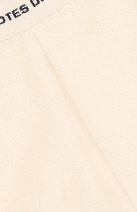 Детские хлопковые шорты с контрастной отделкой LES COYOTES DE PARIS белого цвета, арт. 320516   Фото 3