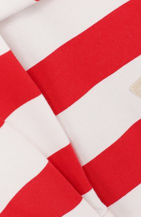 Детская хлопковая мини-юбка в полоску с декоративным поясом NO. 21 красного цвета, арт. 08 X/K302/3881/26-32   Фото 3