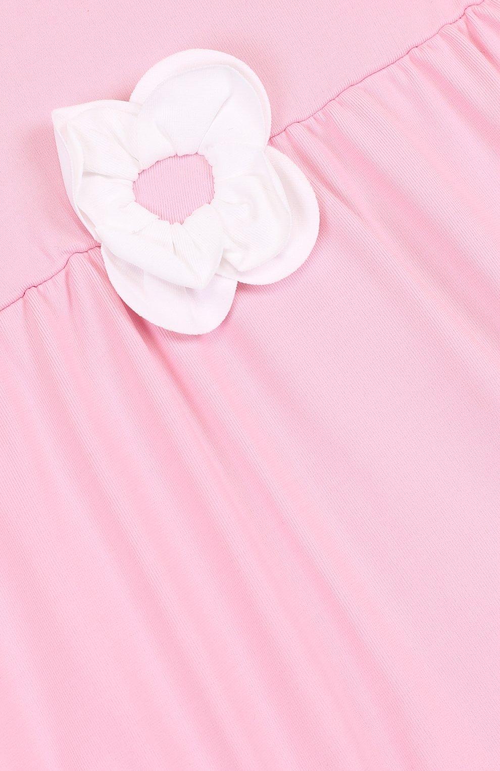 Детского слитный купальник с аппликацией IL GUFO розового цвета, арт. P18CR034EL100/12M-18M | Фото 3