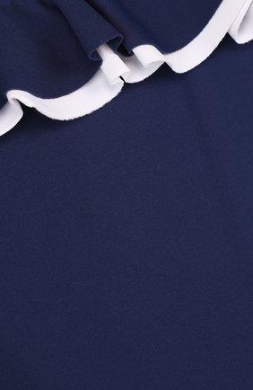 Детского слитный купальник с оборками IL GUFO синего цвета, арт. P18CR035EL100/12M-18M   Фото 3