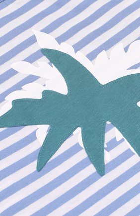 Детский хлопковый комплект из футболки и шорт IL GUFO голубого цвета, арт. P18DP1P2M1067/12M-18M | Фото 3