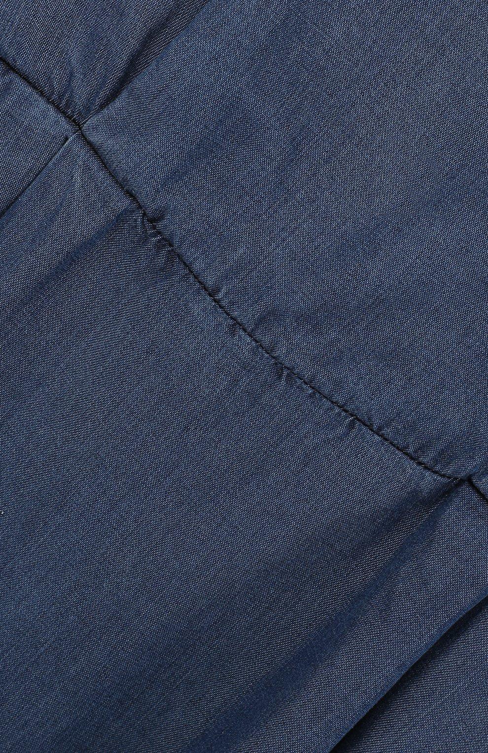 Детское мини-платье с эластичной вставкой на поясе и декоративной отделкой на спине ARMANI JUNIOR синего цвета, арт. 3Z3A90/3D0NZ/11A-16A | Фото 3