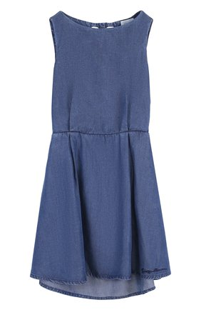 Мини-платье с эластичной вставкой на поясе и декоративной отделкой на спине   Фото №1