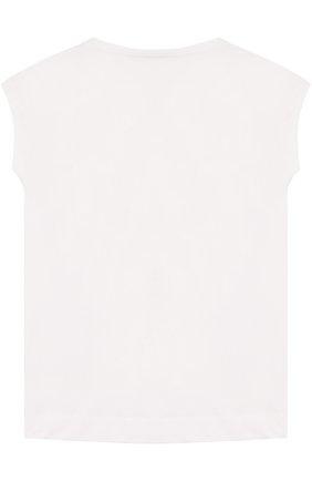 Детская хлопковая футболка с принтом ARMANI JUNIOR белого цвета, арт. 3Z3M02/3JFBZ/11A-16A | Фото 2