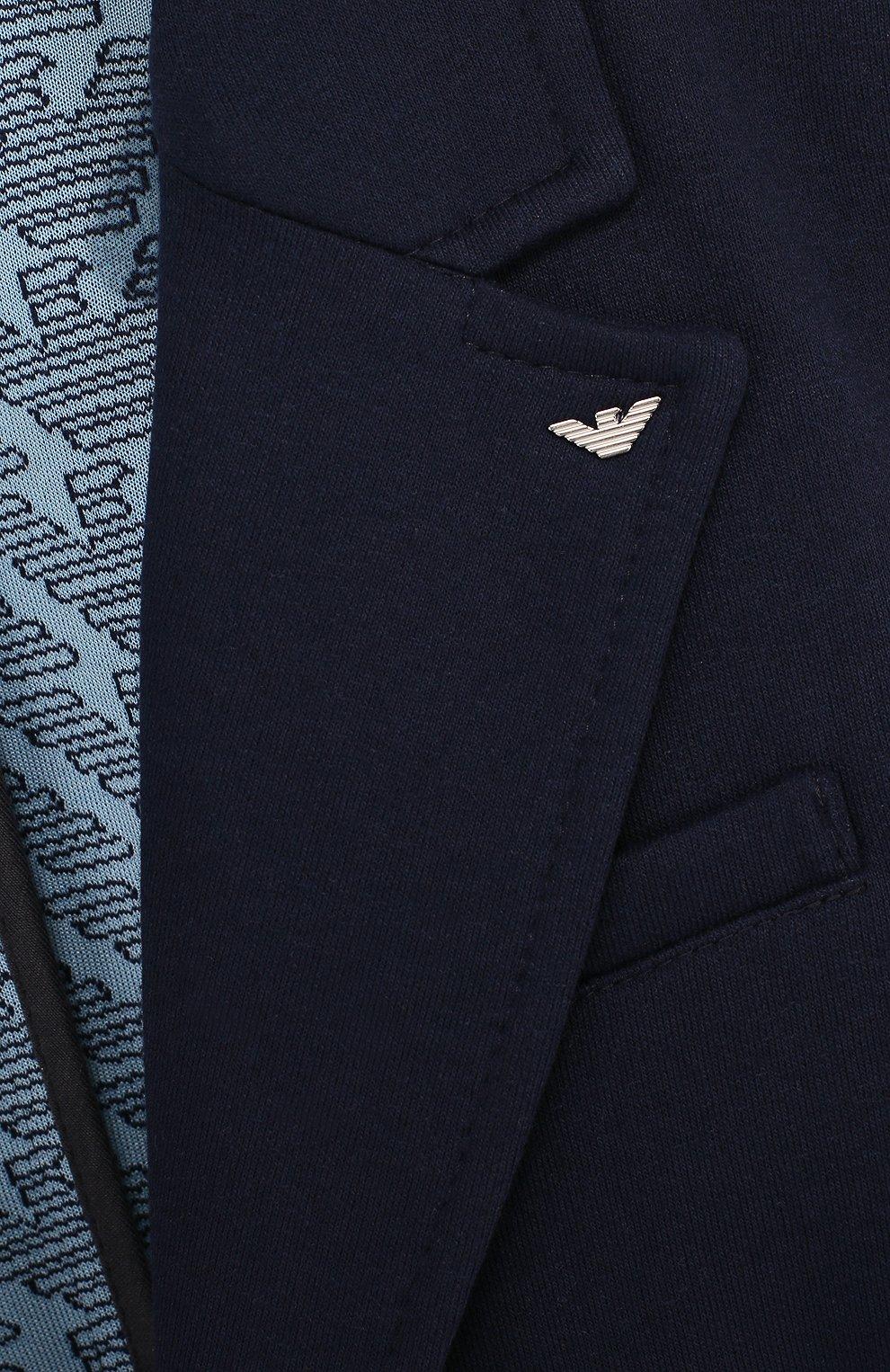 Пиджак джерси на двух пуговицах | Фото №3
