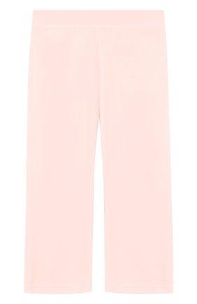 Детские спортивные брюки прямого кроя с поясом на кулиске JUICY COUTURE розового цвета, арт. GTKB115685 | Фото 2