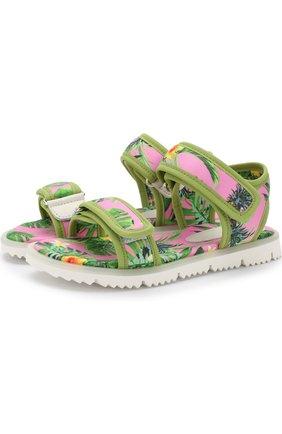 Детские текстильные сандалии с застежками велькро JOG DOG розового цвета, арт. LISB0NA 03R/LYCRA/30-35 | Фото 1