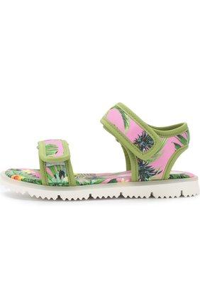 Детские текстильные сандалии с застежками велькро JOG DOG розового цвета, арт. LISB0NA 03R/LYCRA/30-35 | Фото 2