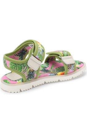 Детские текстильные сандалии с застежками велькро JOG DOG розового цвета, арт. LISB0NA 03R/LYCRA/30-35 | Фото 3