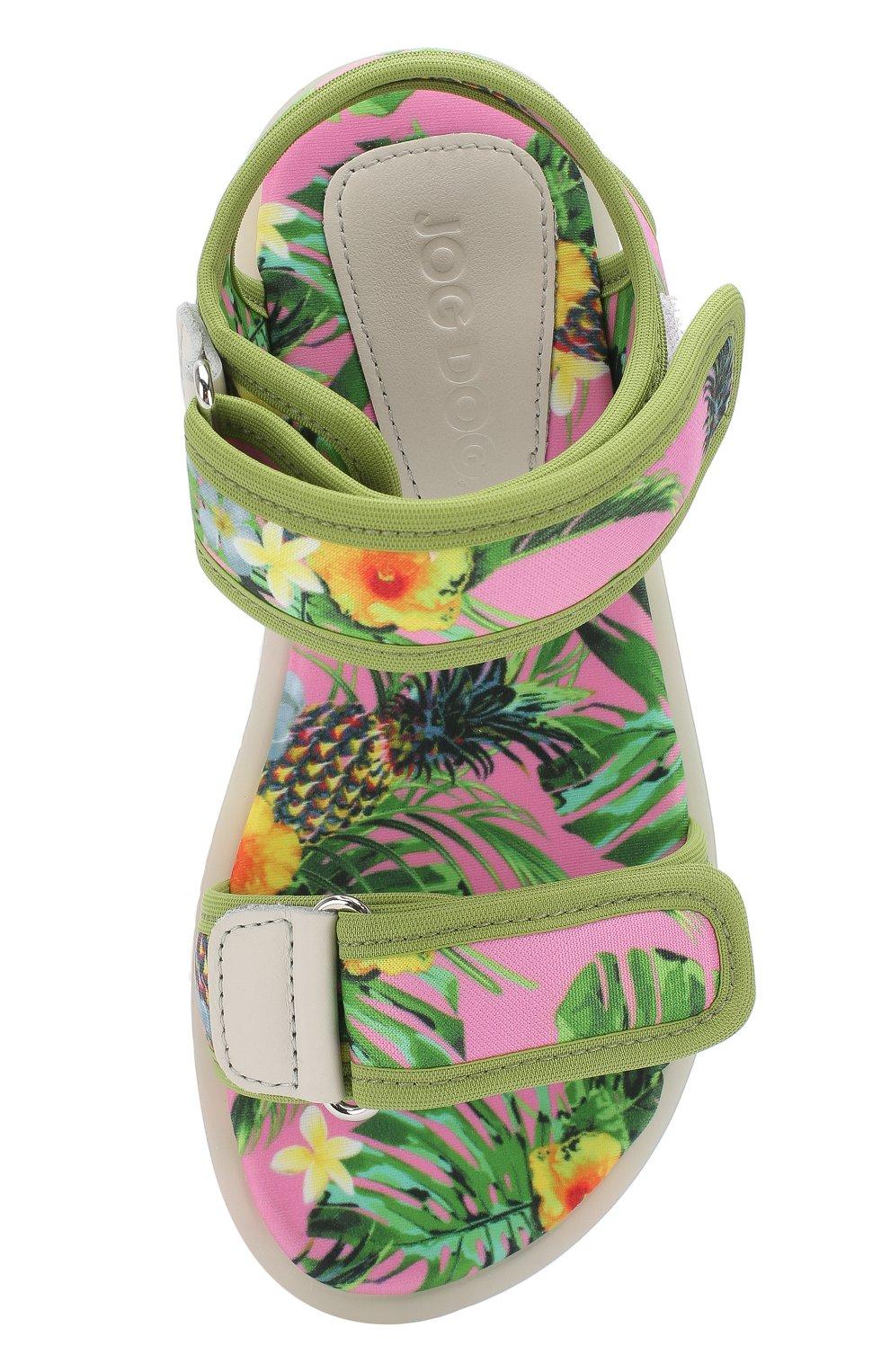 Детские текстильные сандалии с застежками велькро JOG DOG розового цвета, арт. LISB0NA 03R/LYCRA/30-35 | Фото 4