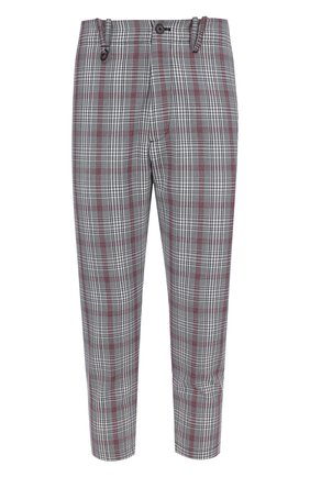 Шерстяные укороченные брюки прямого кроя Oamc разноцветные | Фото №1
