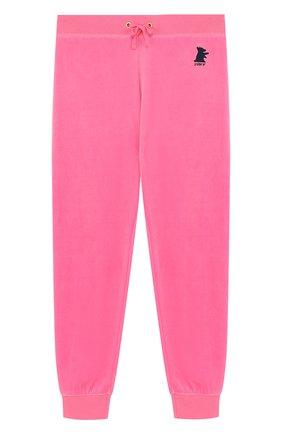 Спортивные брюки с эластичными манжетами и вышивкой | Фото №1
