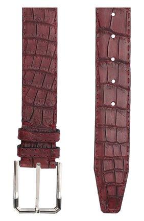 Ремень из кожи крокодила с металлической пряжкой | Фото №2