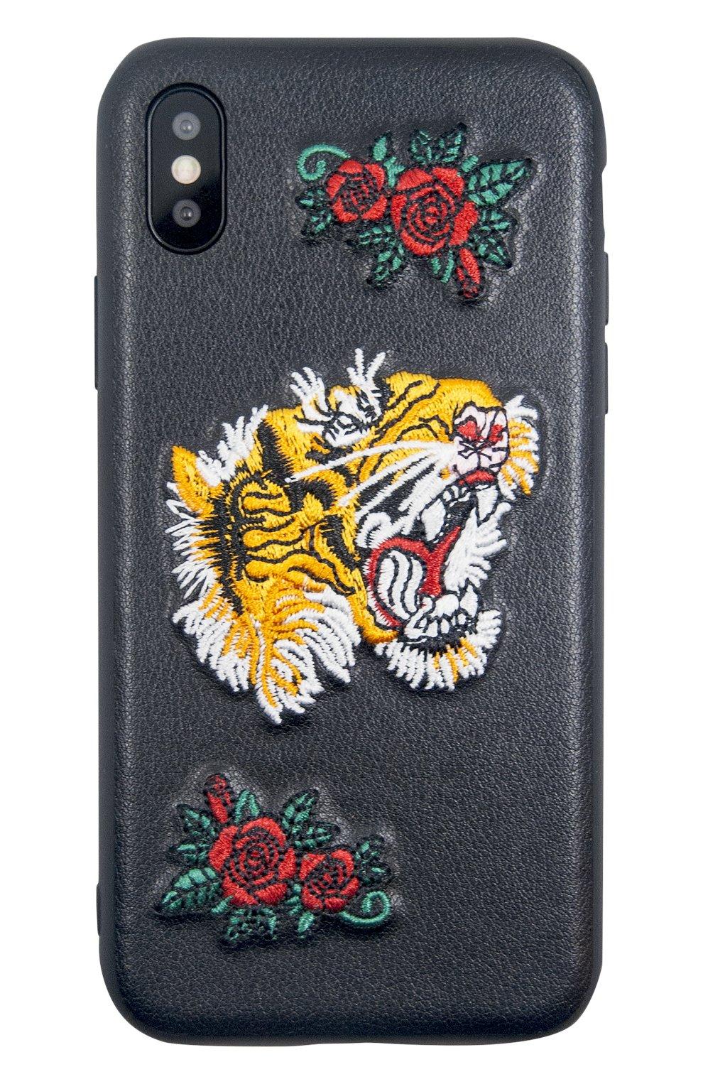 Мужской чехол для iphone x с вышивкой BENJAMINS разноцветного цвета, арт. BJX-RICTI   Фото 1