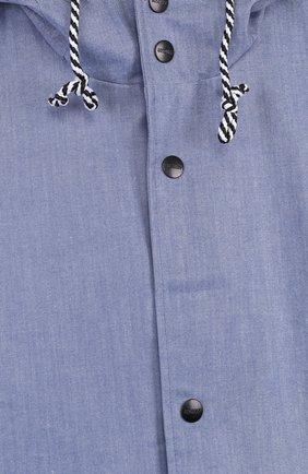 Детский дождевик с капюшоном GOSOAKY голубого цвета, арт. 181.101.228/C0ATED DENIM | Фото 3