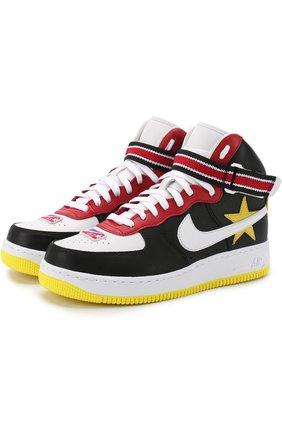 Кожаные кроссовки Air Force 1 High NikeLab x Riccardo Tisci NikeLab красные   Фото №1