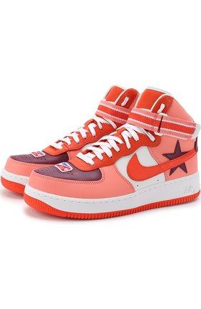 Кожаные кроссовки Air Force 1 High NikeLab x Riccardo Tisci NikeLab разноцветные   Фото №1