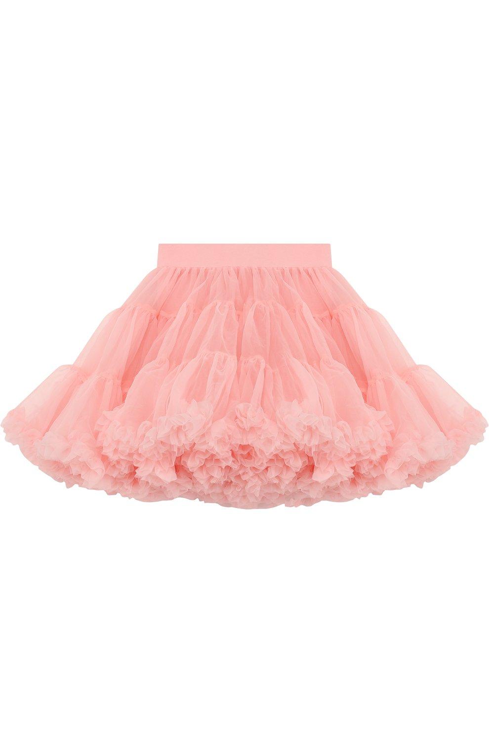 Многослойная мини-юбка свободного кроя с оборкой   Фото №2